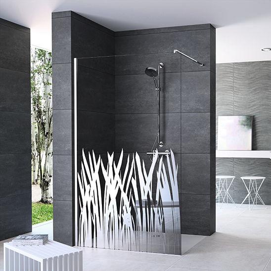 Walk-in sprchový kút s potlačou