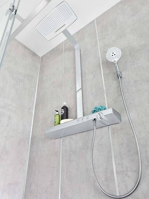 Hansgrohe Rainmaker Select - Prchový systém Showerpipe biely(white)