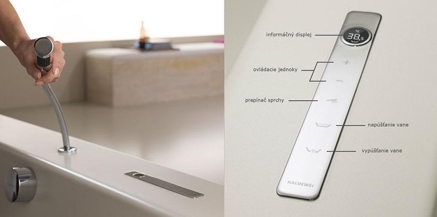 Kaldewei elektronická armatúra Comfort select popis detail