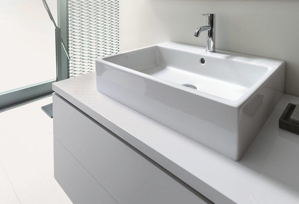 Duravit Vero Air hranaté umývadlo na dosku detail