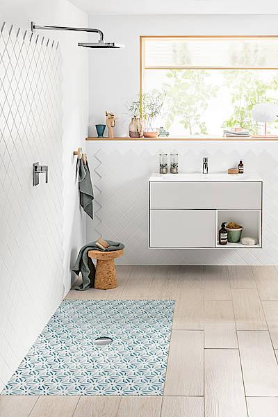 Villeroy & Boch sprchové vaničky ViPrint sprchové vaničky s geometrickým vzorom