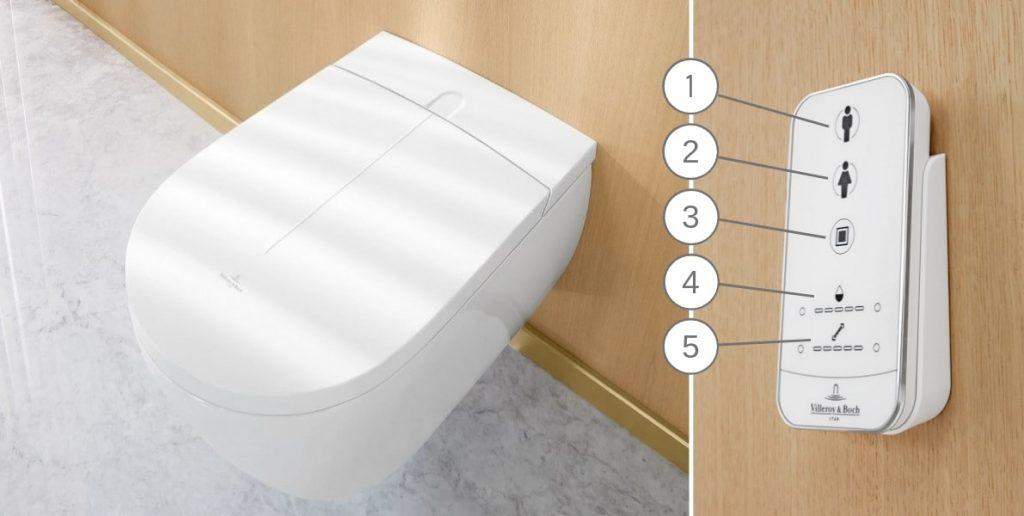 Villeroy & Boch ViClean-I100 sprchovacia toaleta - diaľkové ovládanie